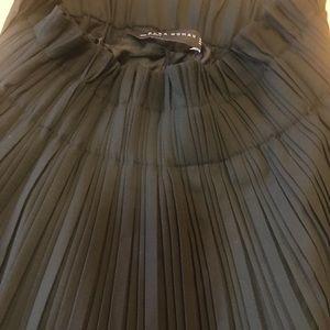Zara Black Pleated Mini Skirt 4886/260